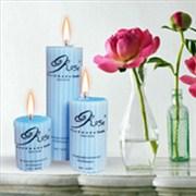 شمع سه تایی ROSE آبی