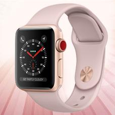ساعت هوشمند Apple Watch3, 38mm, Aluminium, Gold