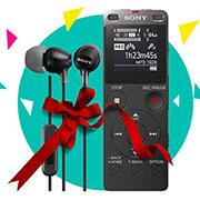 دستگاه ضبط صدا سونی BUNDLE SONY UX560+MDR EX15 AP