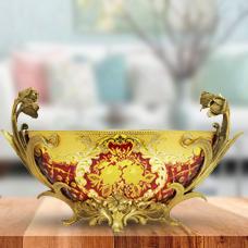 ظروف شیشه وبرنز زرشکی مدل 119201 طرح 59-161-143