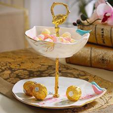 شکلات خوری و شیرینی خوری دو طبقه  طرح NOBLE مدل 696157