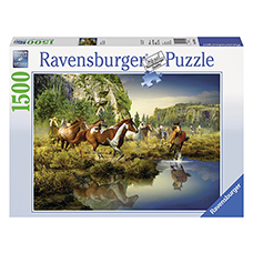 پازل 1500 تکه RAVENSBURGER مدل Wild Horses