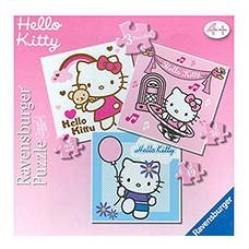 جعبه پازل 36,49,25 تکه RAVENSBURGER مدل Hello Kitty 3 in a Box