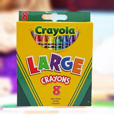 پاستل شمعی CRAYOLA مدل 0080CR 8ct Tuck Box
