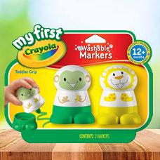 ماژیک CRAYOLA مدل 1314CR My First Crayola Character Marker, Yellow and Green