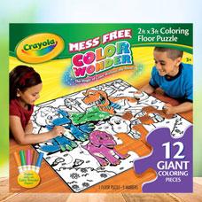 رنگ آمیزی و پازل CRAYOLA مدل 1818CR Coloring Floor Puzzle