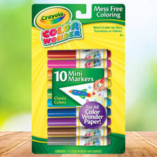 مینی ماژیک CRAYOLA مدل 2211CR Color wonder 10 mini markers