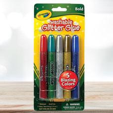 چسب اکلیلی CRAYOLA مدل 3522CR 5 ct Bold Glitter Glue (Blister Card)