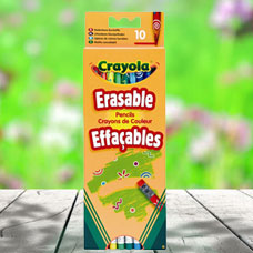 مدادرنگی با سری پاک کن CRAYOLA مدل 3635CR 10 Erasable Pencils