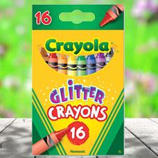 پاستل شمعی CRAYOLA مدل 3716CR 16 ct Multi-Colored Glitter