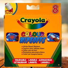 ماژیک CRAYOLA مدل 8223CR 8 Rainbow Colour - Wipeoff Pens