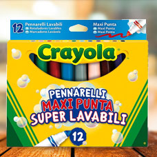ماژیک CRAYOLA مدل 8330CR 8 ULTRA CLEAN WASHABLE MARKERS