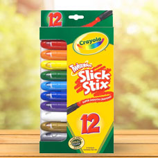 ماژیک CRAYOLA مدل 9512CR 12ct Twistables Slick Stix