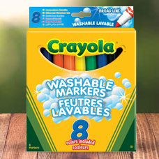 ماژیک CRAYOLA مدل 8328CR 8Super Washable Pens