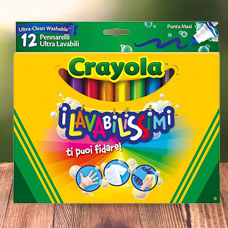 ماژیک CRAYOLA مدل 8329CR 12Super Washable Pens