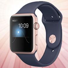 ساعت هوشمند Apple Watch, 42mm, Rosegold(Midnight)