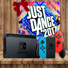 With Neon Blue and Neon Red Joy Con Station Bundle JUST DANCE 2017
