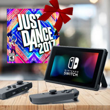 Nintendo Switch With Gray Joy Con Station Bundle JUST DANCE 2017