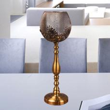 شمعدان طلایی بزرگ گلدکیش، مدل BRIGHT کد 647812