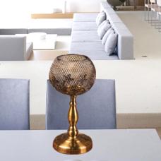 شمعدان طلایی کوچک گلدکیش، مدل BRIGHT کد 647810