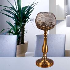 شمعدان طلایی متوسط گلدکیش، مدل BRIGHT کد 647811