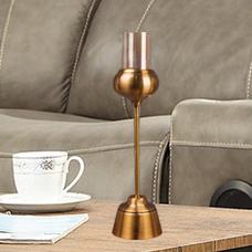 شمعدان طلایی متوسط گلدکیش، مدل BRIGHT کد 647815