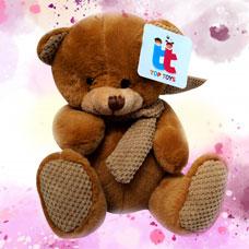 عروسک خرس قهوه ای و کرم