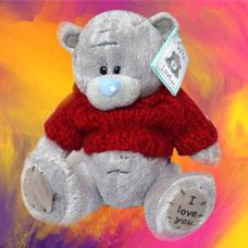 عروسک خرس شکلاتی و خاکستری