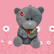 عروسک خرس خاکستری جاسوییچی