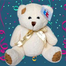 عروسک خرس سفید متوسط