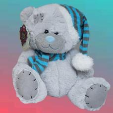 عروسک خرس شال و کلاهی
