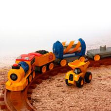 قطار TOY STATE مدل CATERPILLAR Preschool Express Train کد 80408TS
