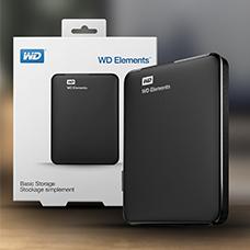 هارد اکسترنال وسترن دیجیتال مدل WD ELEMENTS PORTABLE  1TB
